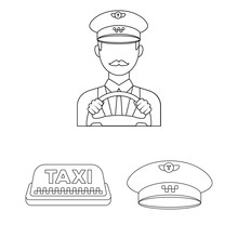 Taxi Service Outline Icons In ...