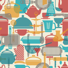 Seamless Vector Pattern. Kitch...