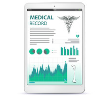Medical Record On Tablet Computer Screen