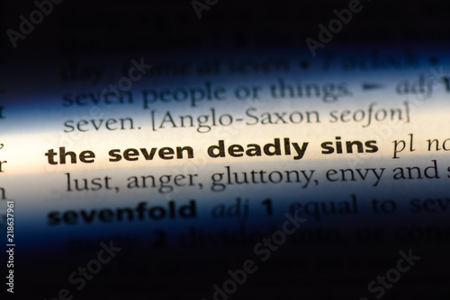Canvas Print the seven deadly sins