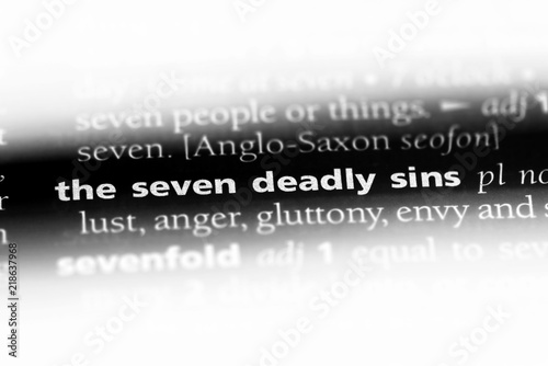 Foto the seven deadly sins