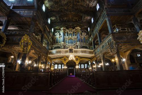 Fotografie, Obraz  Interior of the Peace Church in Swidnica in Poland