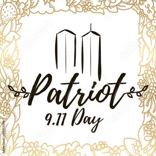 Deurstickers Kerstmis Patriot day vector typographic illustration
