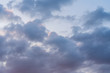 Leinwandbild Motiv sunset clouds sky