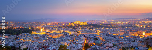 Montage in der Fensternische Athen Panoramic View of Athens, Greece