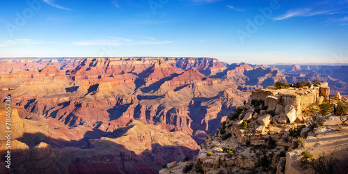 Staande foto Canyon Grand canyon nation park panorama view on a sunny day. Arizona, USA.