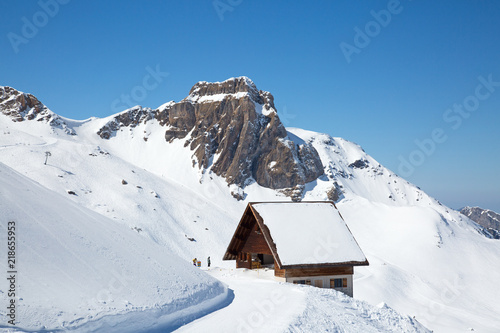 Spoed Foto op Canvas Alpen Winter in alps