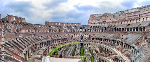 Fényképezés  AInterior of Colosseum (Coliseum), Rome, Italy