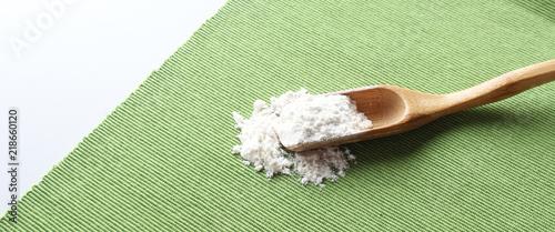 Photo Stands Herbs 2 flour spikelets grain green cloth gray