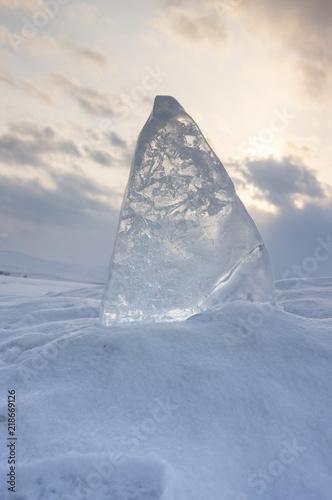 Photo sur Toile Pôle Ice of Lake Baikal