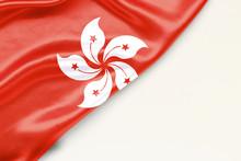 Flag Of Gon Kong: White Backgr...