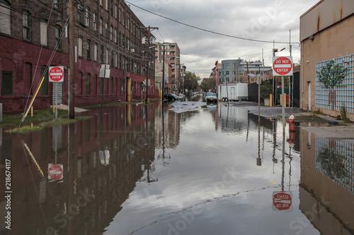Stampa su Tela superstorm Sandy damage New York, after Hurricane