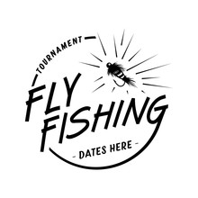 Fly Fishing Tournament. Vector And Illustration.