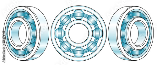 Photo Ball bearings illustration