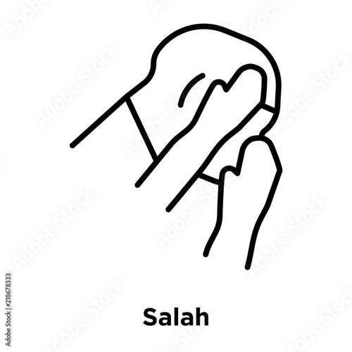 Photo  Salah icon vector isolated on white background, Salah sign , thin line design el