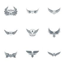 War Legion Logo Set. Simple Se...