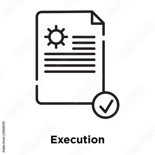 Fotografía  execution icon isolated on white background