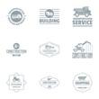 Shopping cart logo set. Simple set of 9 shopping cart vector logo for web isolated on white background