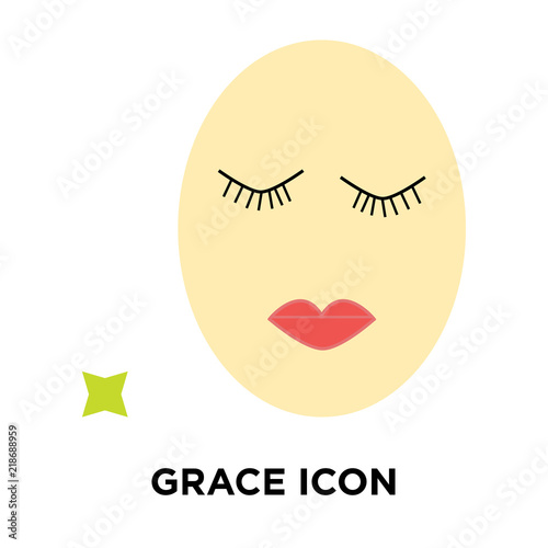 Fotografie, Obraz  Grace icon vector isolated on white background, Grace sign