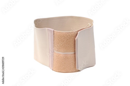 Waist slimming belt isolated on white Canvas