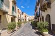 Via Giuseppe Garibaldi street in Lipari