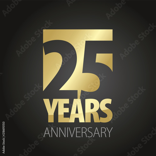 Papel de parede  25 Years Anniversary gold black logo icon banner