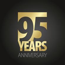 95 Years Anniversary Gold Blac...