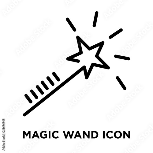 Fotografie, Obraz  Magic wand icon vector isolated on white background, Magic wand sign , linear an