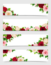 Set Of Vector Web Banners With...