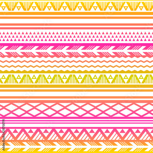 Photo sur Aluminium Style Boho Ethnic boho tribal indian seamless pattern. Colorful pattern for textile design. Vector illustration.