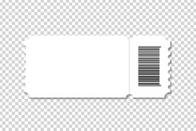 Vector Realistic Isolated Cinema Ticket Template For Decoration And Covering On The Transparent Background.