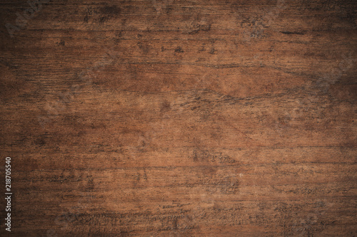 Türaufkleber Holz Old grunge dark textured wooden background,The surface of the old brown wood texture,top view brown teak wood paneling