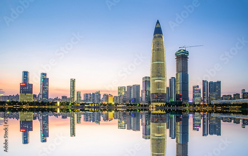 Shenzhen bustling urban night scene