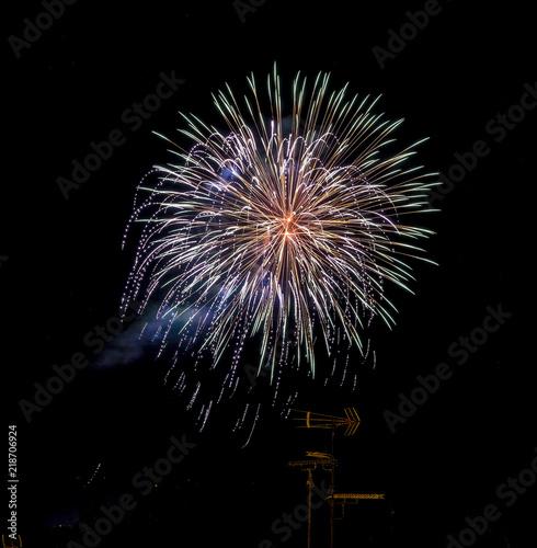 Fotografie, Obraz  fuochi d'artificio colorati in notturna