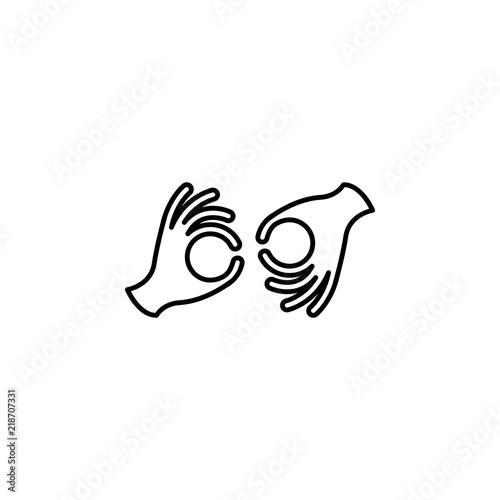 Valokuva  sign language icon
