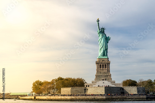 Spoed Foto op Canvas Historisch mon. Statue of Liberty in NYC