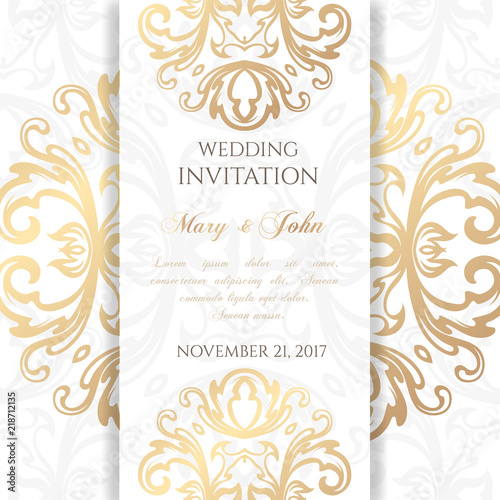 Wedding Invitation Templates Cover Design With Ornaments