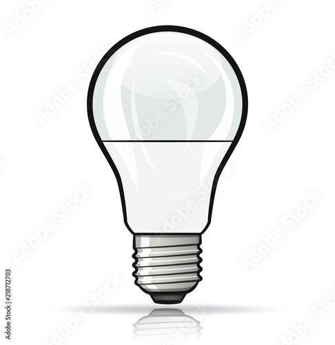 Vector light bulb design concept Canvas Print