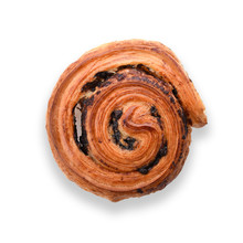 Close Up Sweet Danish Pastries Isolate On White Background