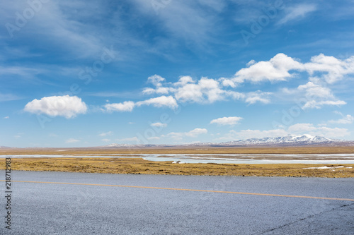 Fotografie, Obraz road on tibet plateau