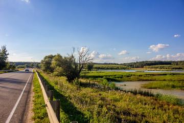 Pond on the river Alozha near the village of Gribovka. Zhukovskiy district, the Kaluzhskiy region