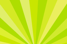 Yellow And Green Rays. Radial Rays Abstract Background. Colorful Background For Your Design.