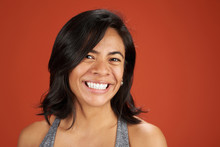 Happy Smiling Latina Young Woman Portrait