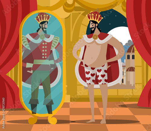 Fotomural emperor new invisible clothes