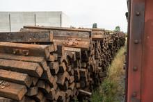 Oak Rail Ties