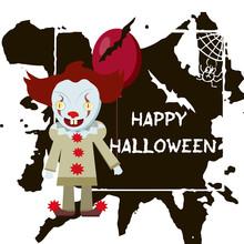 Halloween Greeting Card. Abctr...