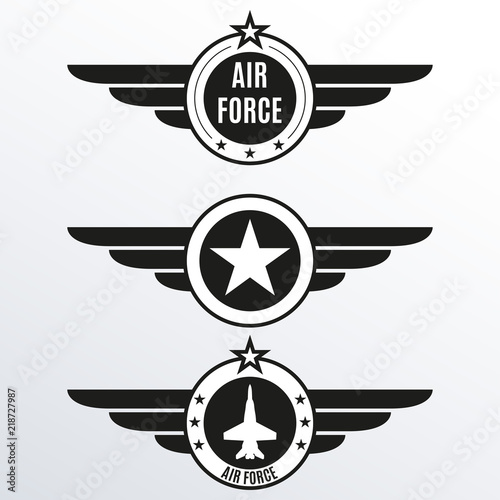 Photo Air force badge set