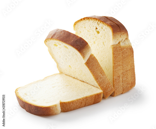Photo  Slice of white bread isolated on white