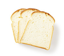 Slice Of White Bread Isolated ...