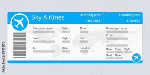 Fotografía  Plane ticket template